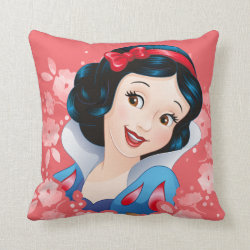 Cotton Throw Pillow with Iconic: Cinderella Framed design