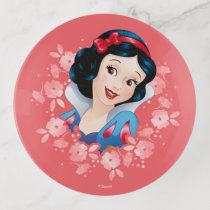 Snow White | Watercolor Floral Frame Trinket Trays