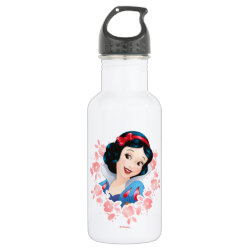 Water Bottle (24 oz) with Stylized Marshmallow Silhouette design