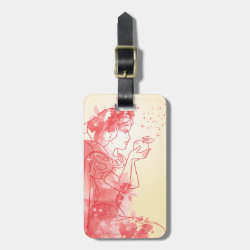 Small Luggage Tag with leather strap with Iconic: Cinderella Framed design