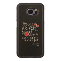 Snow White | You Are Never To Old To Be Young Wood Phone Case
