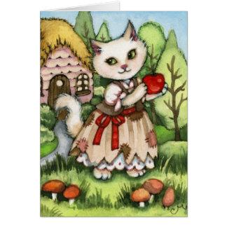 Snow White's Apple - Cute Cat Card