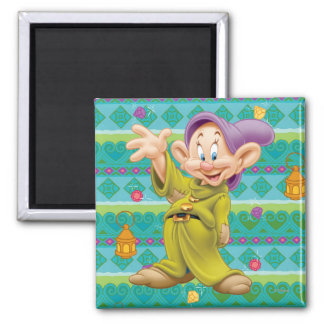 Snow White's Dopey 2 Inch Square Magnet