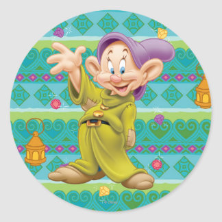 Snow White's Dopey Round Stickers