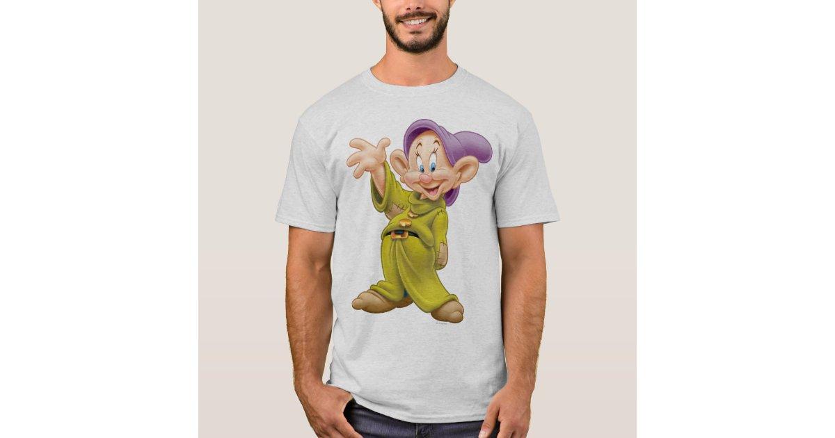 Disney Snow White Dopey Hashtag Portrait T-Shirt