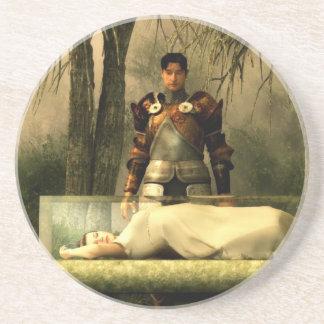 Snow White's Glass Coffin Drink Coaster