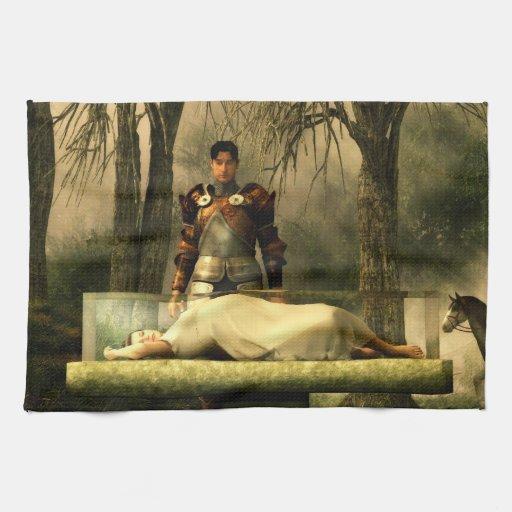 Snow White S Glass Coffin Hand Towel Zazzle