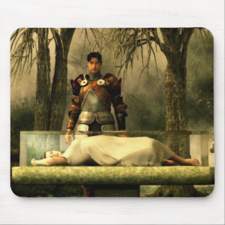 Snow White's Glass Coffin Mouse Pad