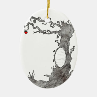 Snow White's Magic Tree Ceramic Ornament