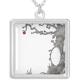 Snow White's Magic Tree Square Pendant Necklace