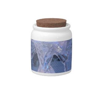 Snow Winter Sculpture  angel  Christianity Faith Candy Jars