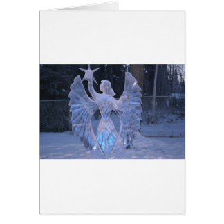 Snow Winter Sculpture  angel  Christianity Faith Card