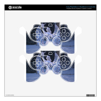 Snow Winter Sculpture  angel  Christianity Faith PS3 Controller Decal