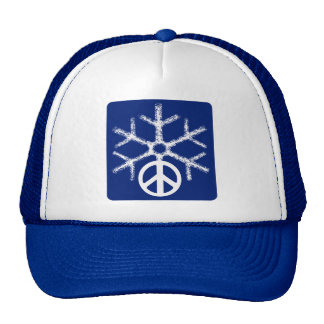 Snow with peace trucker hat