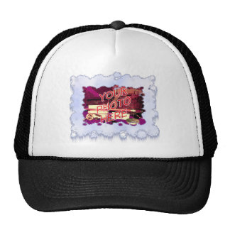 Snow with Snowflakes Template Trucker Hat
