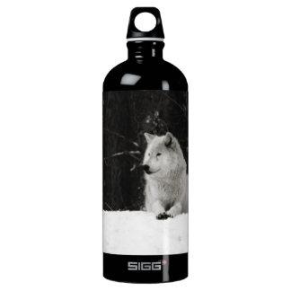 Snow Wolf Aluminum Water Bottle