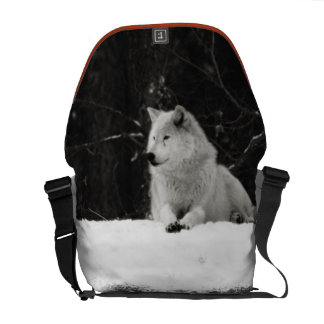 Snow Wolf Courier Bag