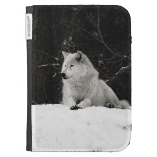 Snow Wolf Kindle Case