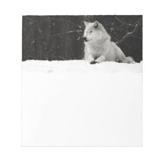 Snow Wolf Note Pad