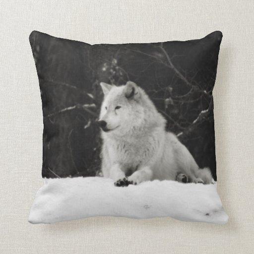 Snow Wolf Pillows