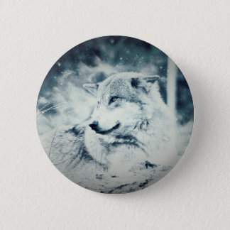 Snow Wolf... Pinback Button