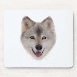 Snow Wolf Sketch Mouse Pad