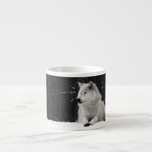 Snow Wolf Espresso Mug
