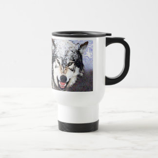 Snow Wolf Travel Mug