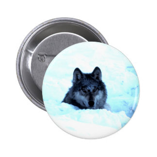 Snow Wolf  Wolves Buttons