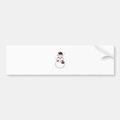 Snow Woman Bumper Stickers
