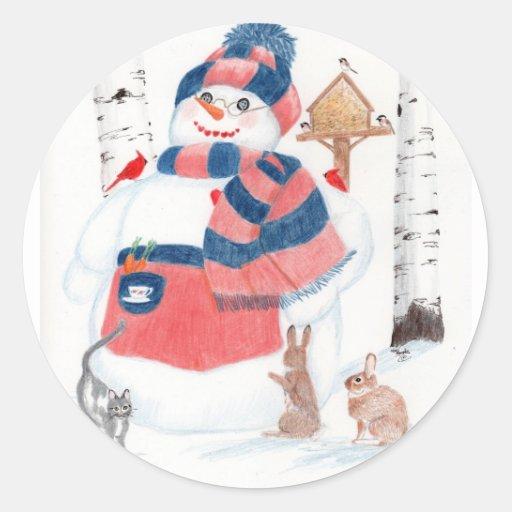 Snow woman sticker