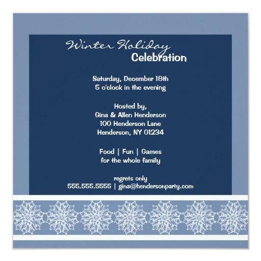 Snow Wonderland Party Invitations