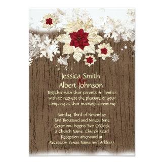Snow Wood Christmas Wedding Invite