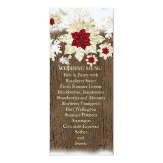 Snow Wood Christmas Wedding Menu 4x9.25 Paper Invitation Card