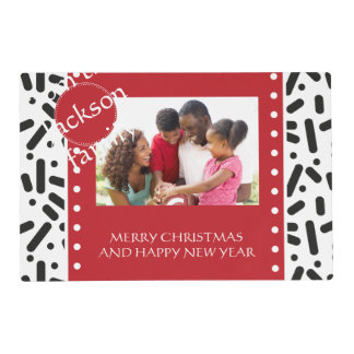 Snow Xmas Stationary and Gifts Placemat