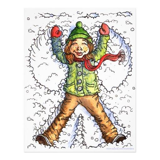 snowangel tarjeta publicitaria