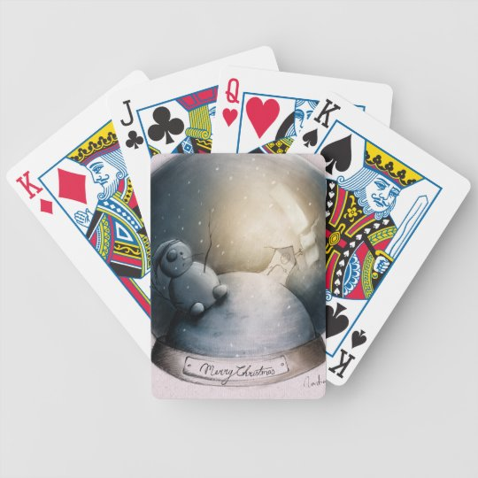 snowball bicycle playing cards