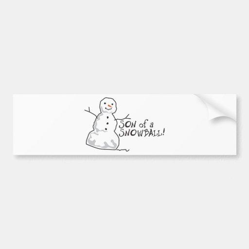 Snowball Bumper Stickers