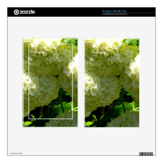 Snowball Bush Blooms Decal For Kindle Fire