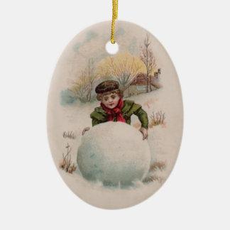 Snowball Christmas Ornament