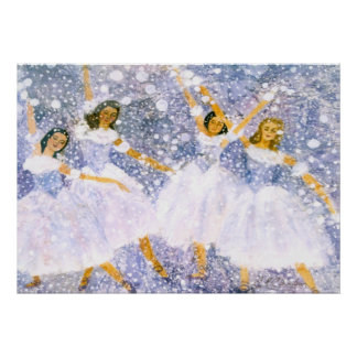 Snowball Dance Watercolor Posters