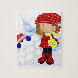 Snowball Diva Jigsaw Puzzle