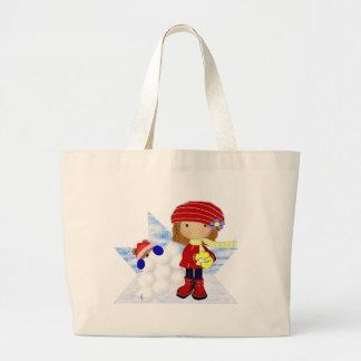 Snowball Diva Large Tote Bag