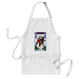 Snowball Fight Adult Apron
