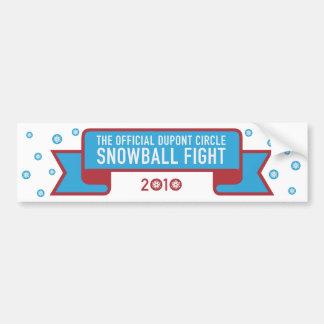 Snowball fight bumper sticker