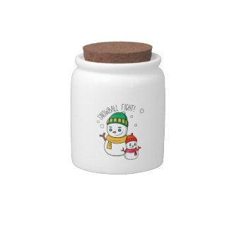 Snowball Fight Candy Jars