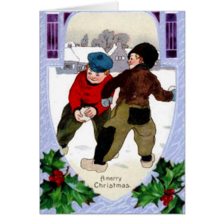 Snowball Fight Card