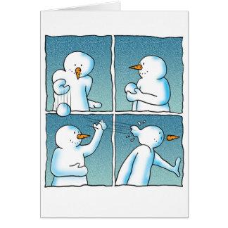 Snowball Fight Card