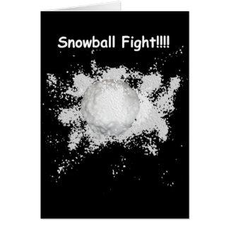 Snowball Fight Christmas Card