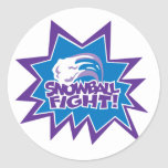 Snowball Fight! Classic Round Sticker